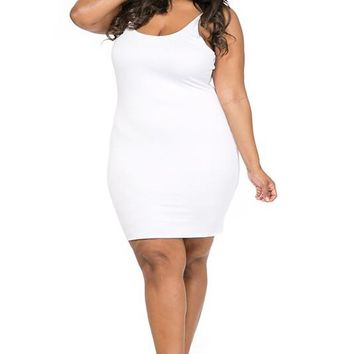 Double Layed Tank Dress Plus Size