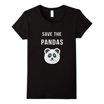 Save The Pandas Shirt - Animal Rights Activist T-shirt Clothing Fashion Harajuku T Shirt for Women Summer 2017 Fashion Design