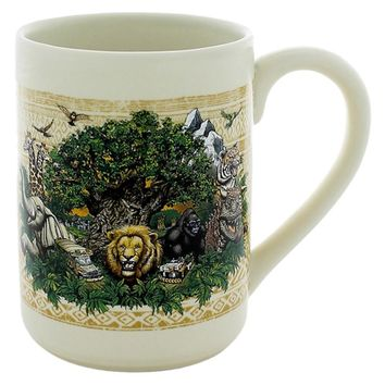 disney parks ceramic coffee cup mug animal kingdom logo animals new