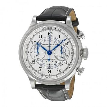Baume and Mercier Capeland Leather Chronograph Automatic Watch MOA10006