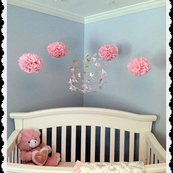 Nursery Mobiles, Baby Crib Mobile, Butterfly Mobile, Nursery Art, Butterfly Nursery