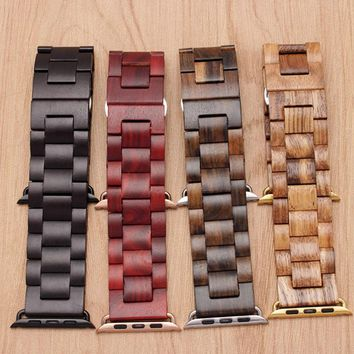 Wood Watch Band for Apple iWatch Series