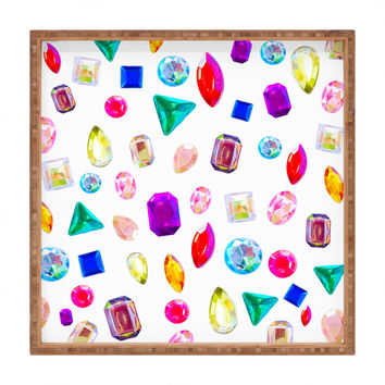 Natalie Baca Rhinestone Reverie In White Square Tray