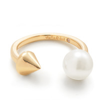 Pearl Spike Ring - Gold