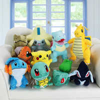 10Pcs/Lot Pokemon Plush Toys Set
