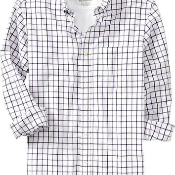 Old Navy Mens Everyday Classic Regular Fit Shirts