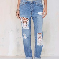 Nasty Gal Denim - The Wreckage Boyfriend