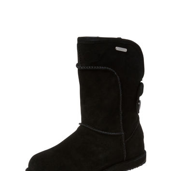 EMU Australia Women's Charlotte 14 Button Sheepskin Boot - Black -