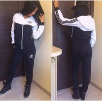 """""""ADIDAS"""" The new women's sports leisure suit Black"""