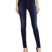 True Religion Harper High Waisted Skinny Jeans in Inky Authentic | Bloomingdales's