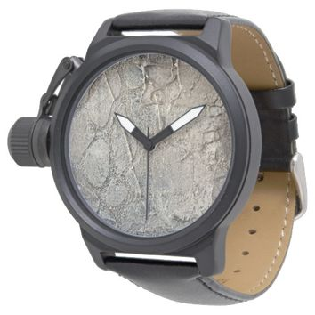 Stone Textured Grey Abstract Watch