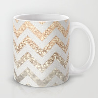 GATSBY GOLD & SILVER Mug by Monika Strigel | Society6