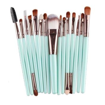 15pcs Pro Makeup Brushes Set Cosmetic Makeup Brush 15 pcs Makeup Brush Set tools Make-up Toiletry Kit Wool Make Up Brush Set