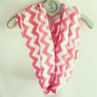 Infinity chevron coral Scarf, soft Jersey knit-back in stock