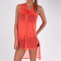 Steve Madden Juniors Sheer Swim Cover-Up Tunic at Von Maur