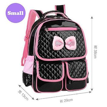 School Backpack New Cute Children Backpack Grade 1-6 Girls School Bags PU Orthopedic Schoolbag Waterproof Student s Pink 2017 M2 AT_48_3
