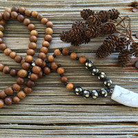 Mala Necklace, Yoga Jewelry, Bohemian Necklace, Tribal Necklace, 108 Bead Mala, Earthy Jewelry, Hipster Necklace, Hippie Jewelry