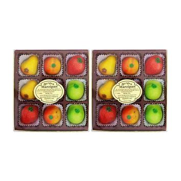 2 Pack Bergen Marzipan Fruit Shaped Marzipan 4 oz. (9 Pcs)