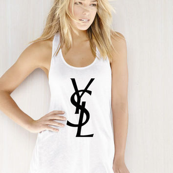 YSL Tank Top FLOWY Racerback - by BellaCoutureClothing