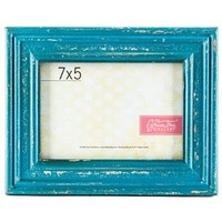 "5"" x 7"" Rustic Blue MDF Photo Frame 