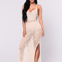 With you I'm Born Again Dress - Natural