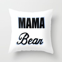 Mama Bear to Baby Boy Throw Pillow by Love Lunch Liftoff