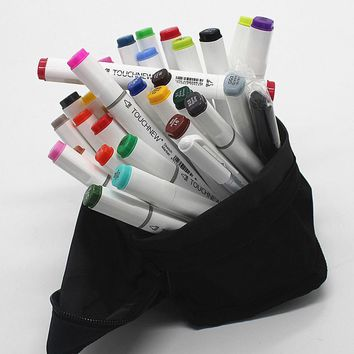 Free shipping two-headed Alcohol oily six generations mark brush pen hand-painted 30 48 color copic markers manga finecolour