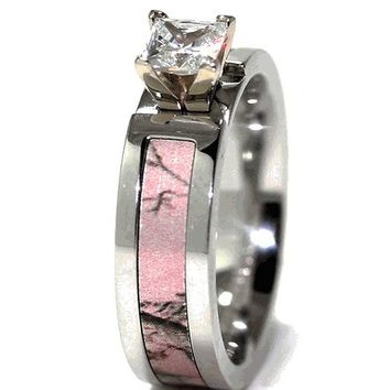 Pink Realtree AP Camo Engagement Band