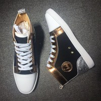 DCCK Cl Christian Louboutin Suede Style #2223 Sneakers Fashion Shoes