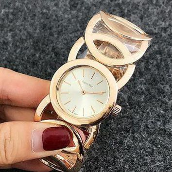 DCCKJ1A CK Watch man women  fashion Watch F-Fushida-8899  Gold - white noodles face