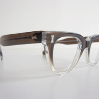 Vintage 1950s Eyeglass Frames / New Old Stock Grey by zestvintage