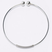 Ball Edge Metal Choker in Silver - Urban Outfitters