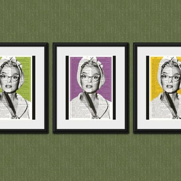 MARILYN MONROE PHOTO Vintage Dictionary Art Print Marilyn Monroe Art Marilyn Monroe Wall Decor Marilyn Monroe Glasses Marilyn Monroe Picture