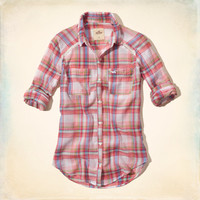 Seaside Reef Plaid Shirt