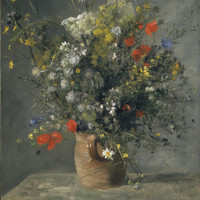 Pierre Auguste Renoir Fleurs Dans Un Vase National Gallery Of Art