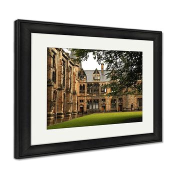 Framed Print, Architectural Detail From Inner Court Of The University Of Glasgow Scotland