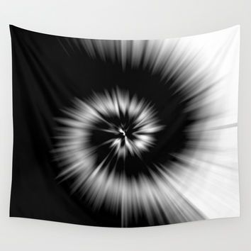 TIE DYE #1 (Black & White) Wall Tapestry by COLORADDICTED.COM