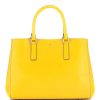 Ebury Small Featherweight In Mustard And Navy Capra Double by Anya Hindmarch - Moda Operandi