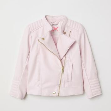 Biker Jacket - Light pink - Kids | H&M US