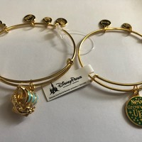 Disney Fantasyland Pirate Ship Set of 2 Bangle by Alex and Ani Gold Finish New