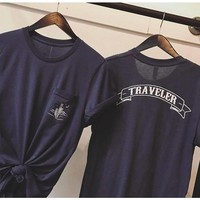Wanderlust Traveler pocket Tee