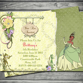 Princess and The Frog Birthday Invitation