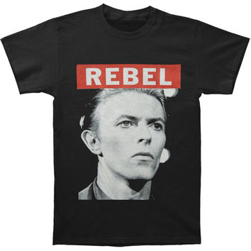 David Bowie Men's  Big Rebel T-shirt Black Rockabilia