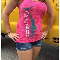 Burnout Shocking Pink Tuna Tank Top