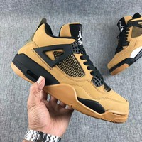 Travis Scott x Air Jordan 4 Retro Army Green Basketball Shoes US7-13