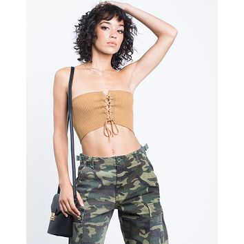 Mini Lace-Up Tube Top