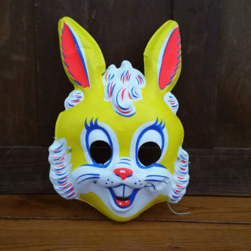 Vintage Hunny Bunny Rabbit Costume Masquerade Halloween Mask
