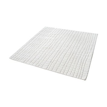 8905-223 Blockhill Handwoven Wool Rug In Cream - 16-Inch Square