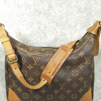 Authentic Louis Vuitton Vintage Monogram Boulogne30 before 1980s no date code, Shoulder Bag, Good Condition, more photo link inside