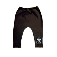Unisex Baby Brown Thanksgiving Pants with Pilgrim Puppy Dog